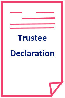 Trustee declaration